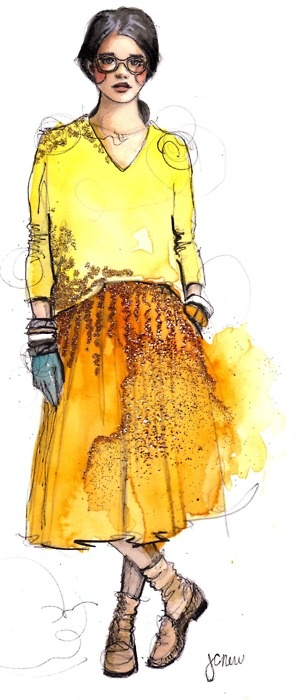 J. Crew by @PAPERFASHION. Yellow daydream.Fashion Sketches, J Crew, Paper Fashion, Watercolors, Paperfashion, Fashion Art, Jcrew, Water Colors, Fashion Illustrations