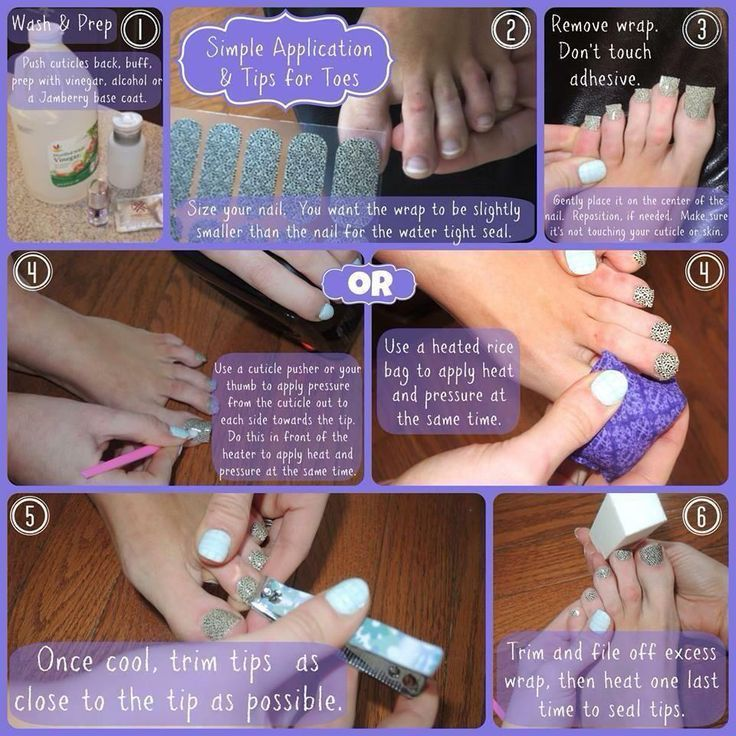 Simple application tips for a Jamberry pedicure