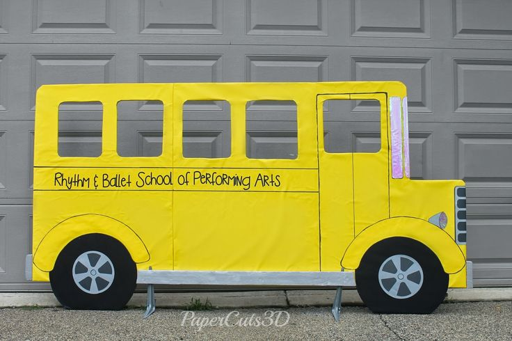 PaperCuts: School Days | Oversized Bus Stage Prop | Out of ...