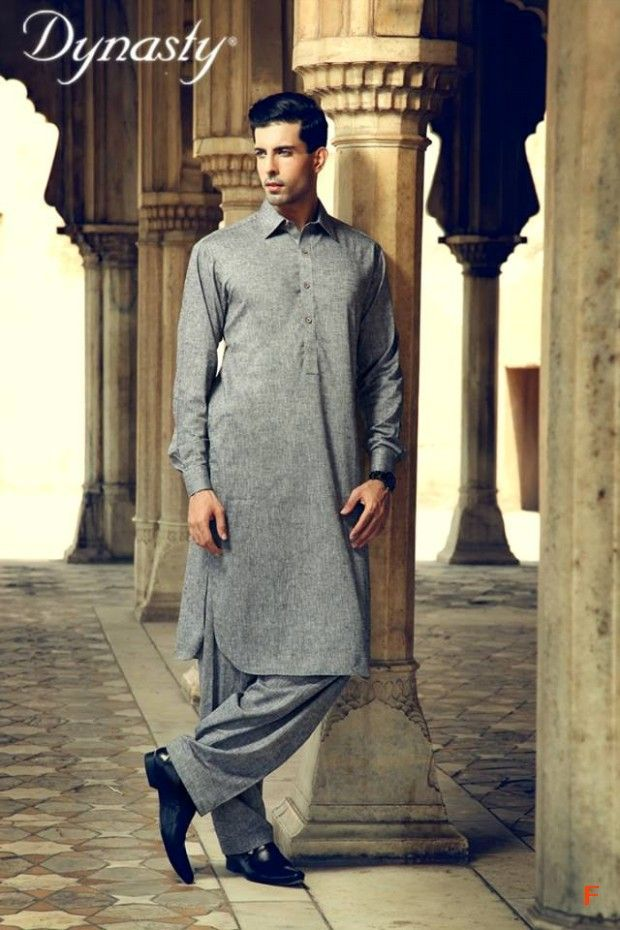 Mens-Wear-Cotton-Embroidered-Kurta-Pajama-By-Dynasty-Fabrics-New-Fall-Collection-2014-5