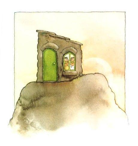 """Het huis op de rots (12). Jezus zegt tegen ons: """"Voor iedereen die doet wat Ik zeg zal het gaan zoals de verstandige man die zijn huis op de rots bouwde. Als je op mij vertrouwt zal Ik je nooit in de steek laten""""."""