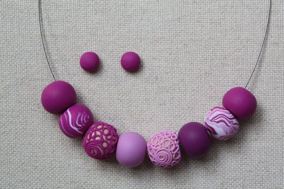 Unique beads necklace by GATOHANDMADE on Etsy