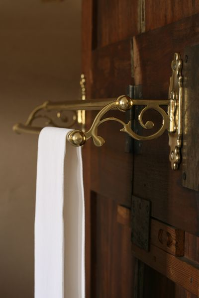 The French House - brass towel rail