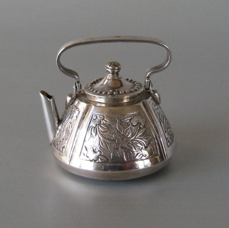 Antique Dutch Silver Miniature Teapot Kettle
