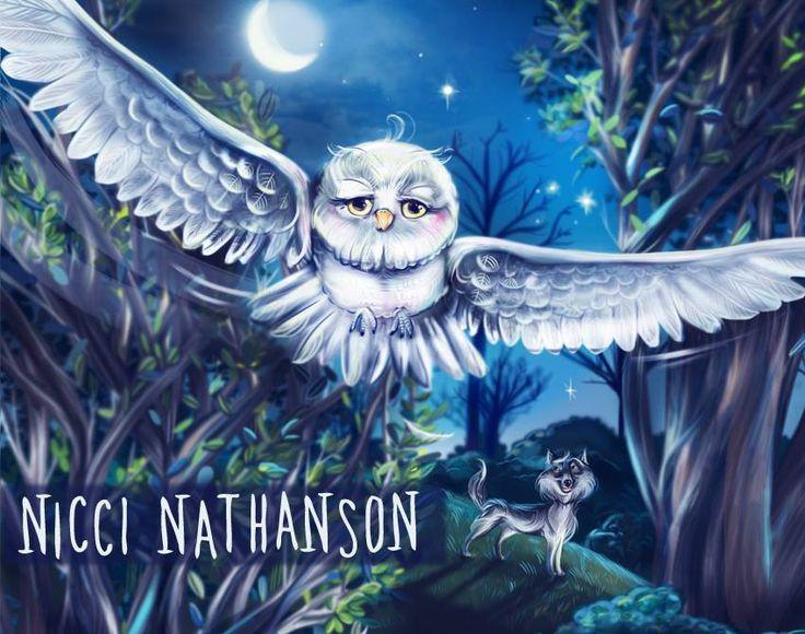 Children's book illustration by Nicci Nathanson,  Owl www.niccinathanson.com