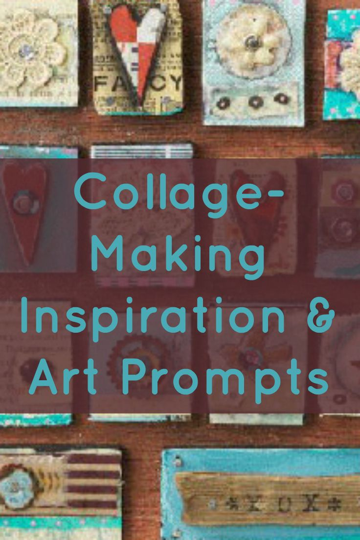 Learn everything you need to know about collage-making in this free guide that includes collage inspiration, art prompts, and a beginner collage project! #collagemaking #diycollage #artprompts
