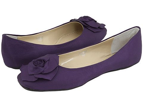 Romantic Soles Geneva at Zappos.com -- in purple it would go with the dresses and bring some wedding color into the bridal party. they also come in wide and variety of sizes for reasonable price