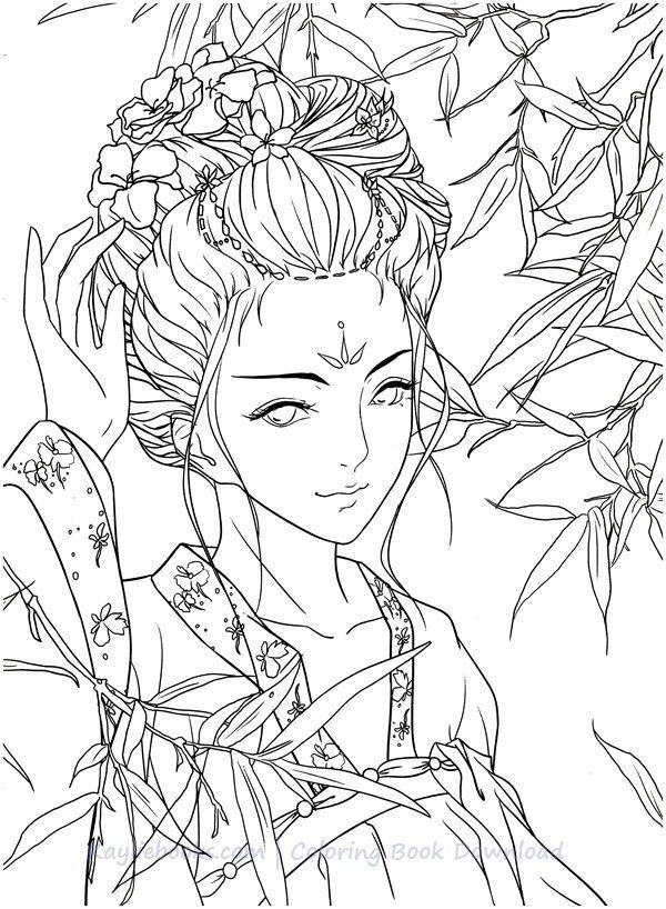 Download Classic Chinese Portrait Coloring Book Pdf Printable Hd Star Coloring Pages Cartoon Coloring Pages Coloring Books