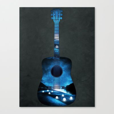 view from my guitar Canvas Print by Viviana Gonzalez - $85.00