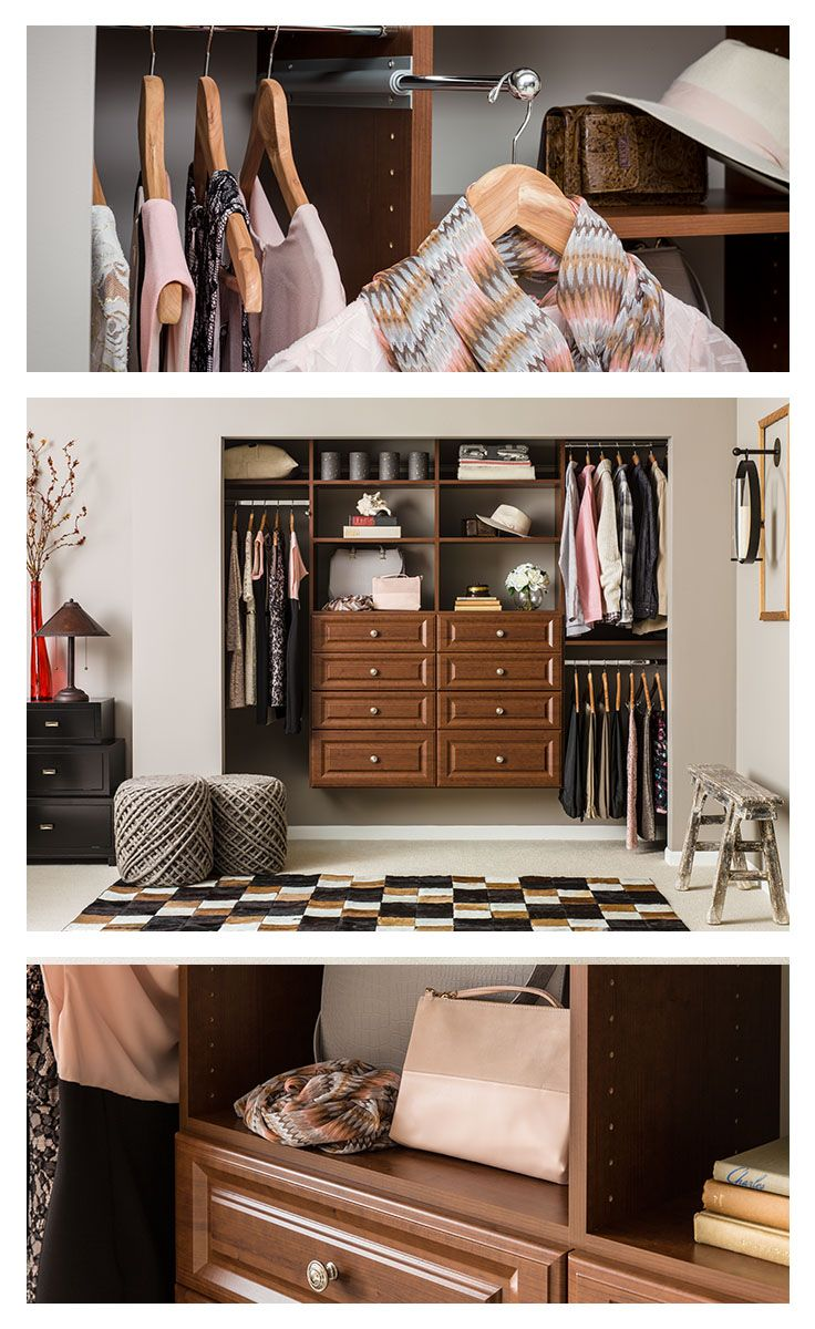 146 best small spaces big impact images on pinterest Master bedroom closet hardware