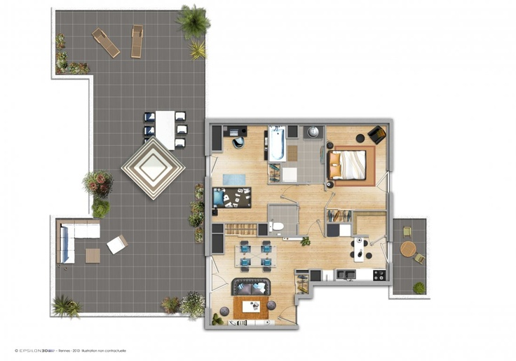 1000 images about plan appartement on pinterest for Appartement 40m2 design