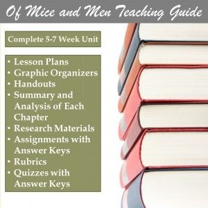 The Best Laid Plans of Mice and Men Poem Analysis Lesson Plan