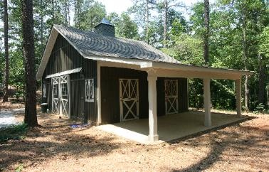 The idea of disguising a house as a barn is very appealing and this would work just fine!