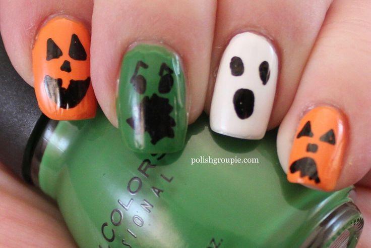 Mejores 35 imágenes de Halloween Nails en Pinterest   Diseños de ...