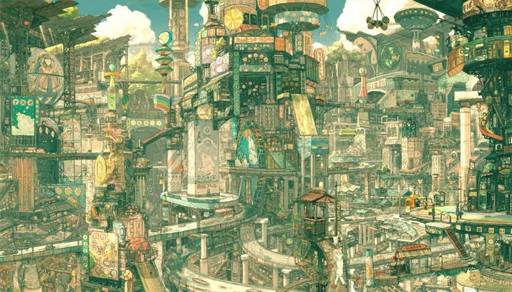 anime: The Artists, Concept Art, Imperial Boys, Comic Books, Scifi, Future Cities, Illustration, Conceptart, Sci Fi