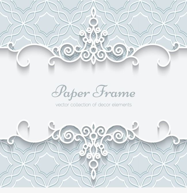Vintage Pattern With White Lace White Pattern Frame Png Transparent Clipart Image And Psd File For Free Download Paper Lace Card Patterns Wedding Card Frames