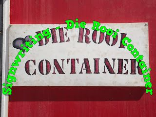 A Pretty Talent Blog: Sign Writing - Die Rooi Container