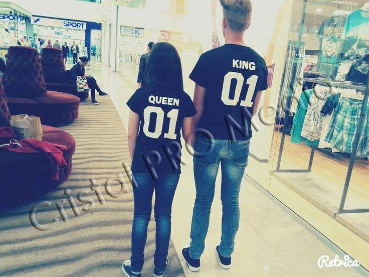 Set tricouri King si Queen cu numar personalizat