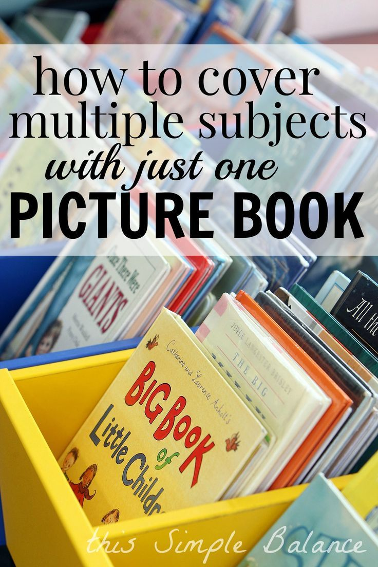 Minimalist homeschooling at it's finest. Teach multiple subjects with just one picture book! Cheap and simple, this method maximizes your time and can help with teaching multiple kids at once.