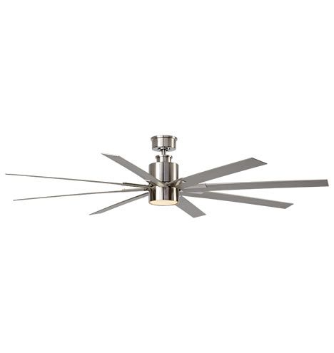 Raven LED Ceiling Fan Brushed Nickel & Silver Blades A5033