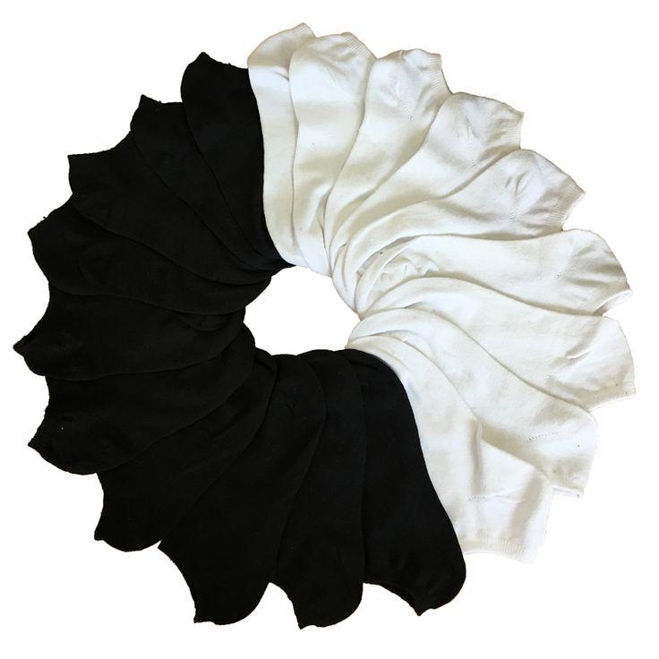7Pair Women's Socks Short Female Low Cut Ankle Socks For Women Ladies White Black Socks Short Chaussette Femme Summer  Price: 3.20 USD