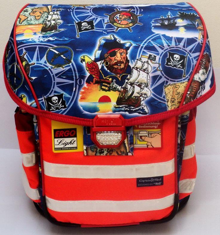 1600**Školní batoh MCNEILL CAPTAIN RED, Ergo Light 2 DIN, 3 dílný set   McNeill - Made in Germany