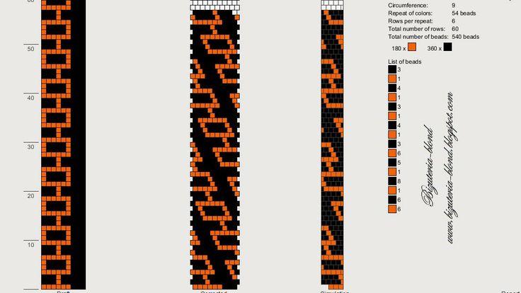 ювелирные изделия-блондинка: Шаблоны строки крючком-koralikowych