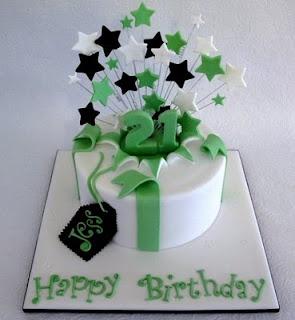 Exploding 21 birthday cake