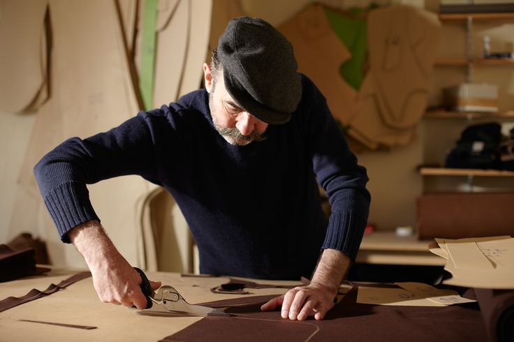 Photographed by Richard Drury - I really like this image of him cutting the material, i will try to use this idea in my images
