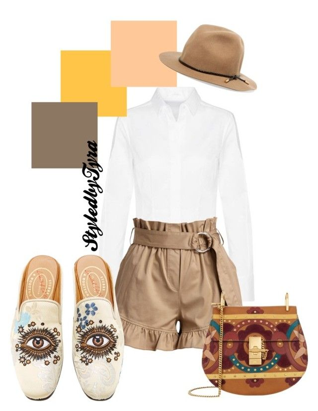 """""""Back to school"""" by tyra-imogen on Polyvore featuring Cinq à Sept, Stubbs & Wootton, rag & bone and Chloé"""