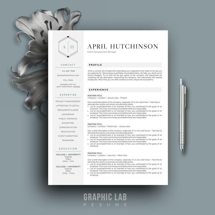 Curriculum Vitae One Page Resume