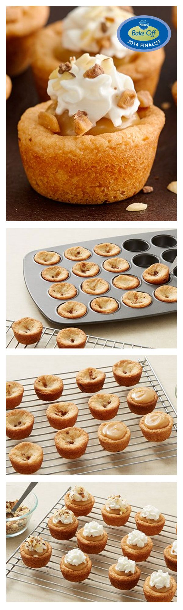 47th Bake-Off Contest Finalist: Toffee and Almond Fudge Cookie Cups by Amy Andrews from Macomb, MI