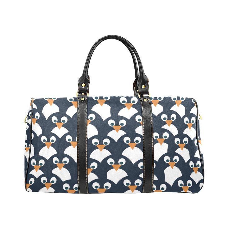 Penguin Pattern New Waterproof Travel Bag/Large (Model 1639)