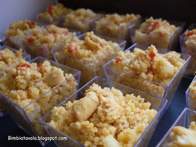 bimbi a tavola: Bicchierini finger food: cous cous con pollo al cu...