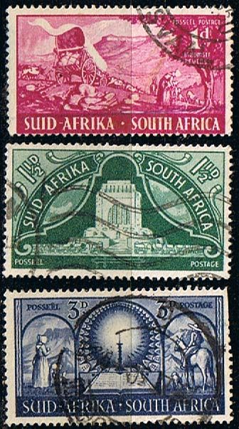 South Africa 1949 Voortrekker Monument Set Fine Used SG 131 3 Scott 112 4 Other South African Stamps HERE
