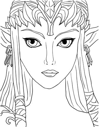 Zelda Coloring Pages