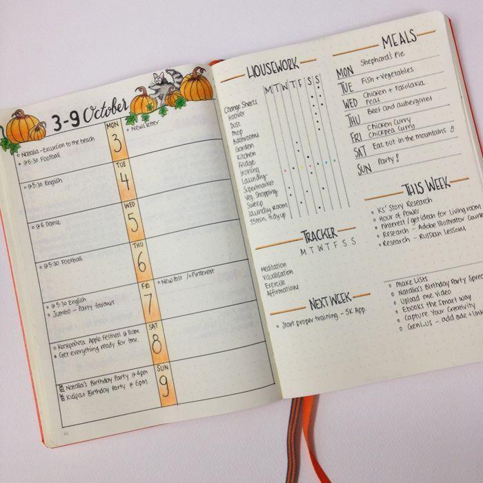 Lovely >> christina77star.c...: Bullet Journal: My October Set Up...