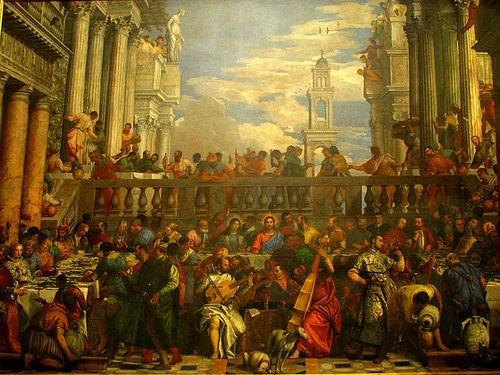 The Wedding Feast at Cana - 134 people, no two alike, this took my breath away.