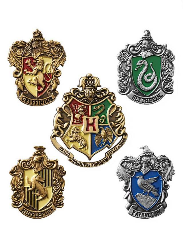 Harry Potter Anstecknadel Set Hogwarts Hauswappen Hogwarts Hogwarts Wappen Harry Potter Drachen