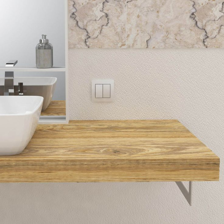 Oltre 25 fantastiche idee su mensole da bagno su pinterest - Mobili bagno legno massiccio ...