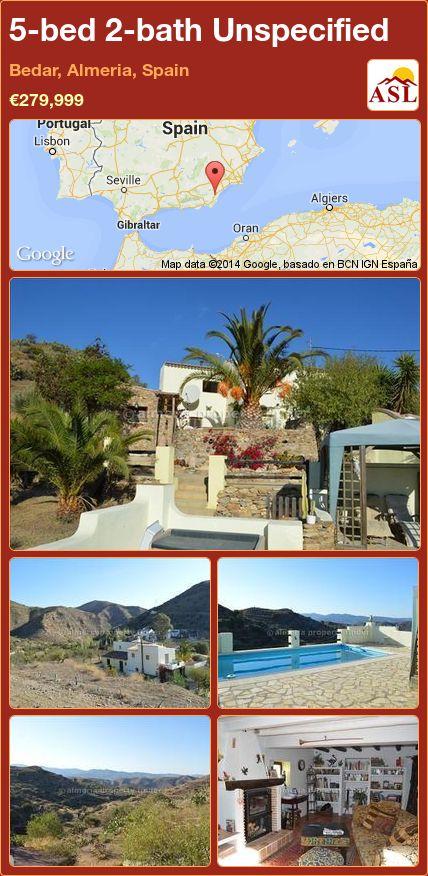 5-bed 2-bath Unspecified in Bedar, Almeria, Spain ►€279,999 #PropertyForSaleInSpain