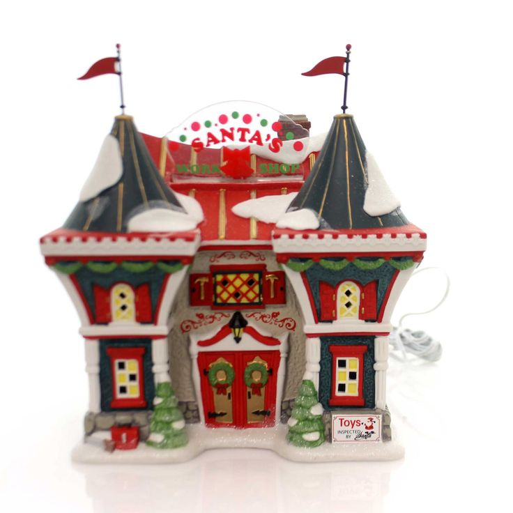 Department 56 House Santa's North Pole Workshop Village Animated Building