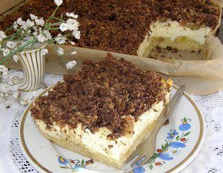W Mojej Kuchni Lubię.. : sernik z kruchym ciastem i rabarbarem...