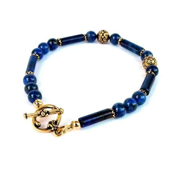 Lapis Bracelet  Handmade Bracelet  Gemstone by EscapeJewellery, $50.00