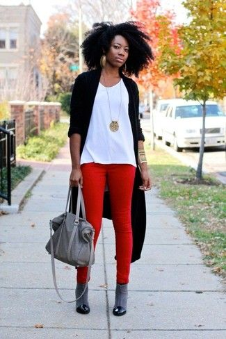 Comment porter un pantalon rouge en 2017 (188 tenues) | Mode femmes