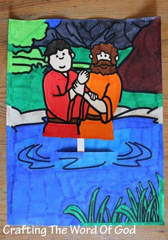 """This craft is a visual illustration of the Philip and the Ethiopian. As they went along the road they came to some water; and the eunuch said, """"Look! Water! What prevents me from being baptized?"""" 3…"""