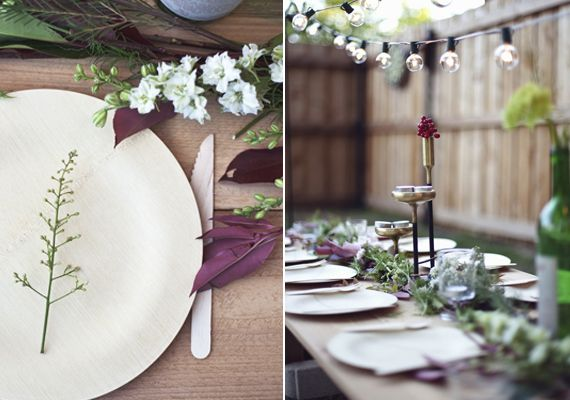 Vintage botanical dinner party idea | styled by Yeti & The Beast | photo by Meghan Sadler | 100 Layer Cake