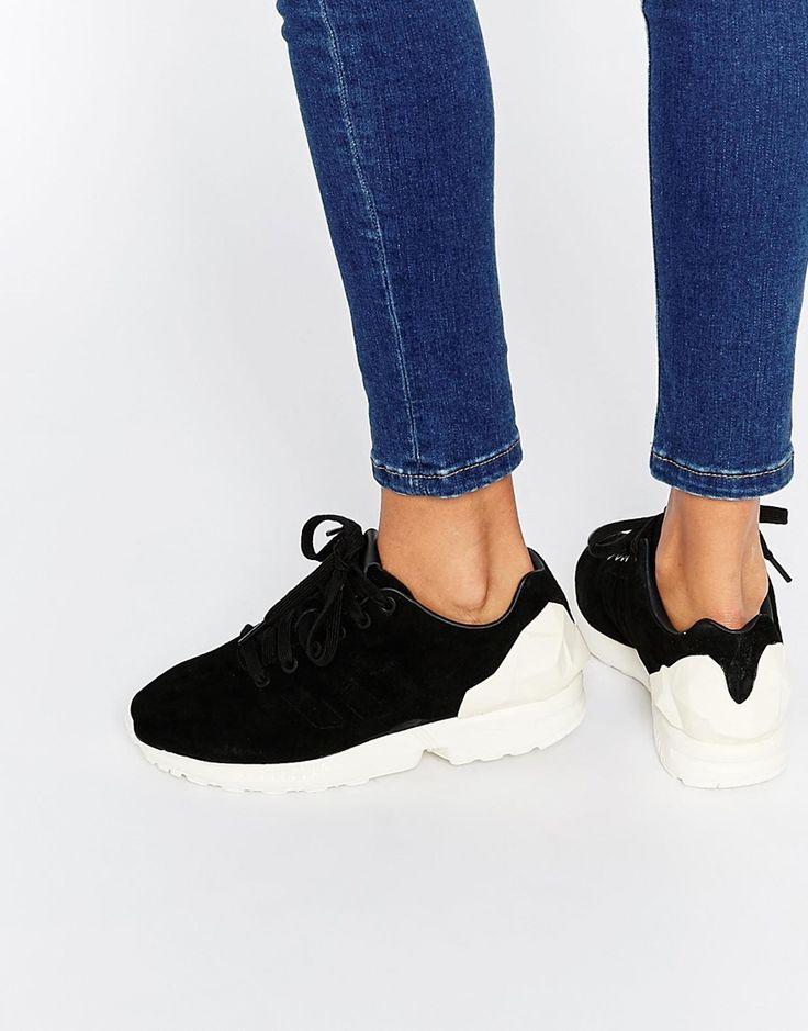 Image 1 of adidas Originals Black ZX Flux Jewel Sneakers