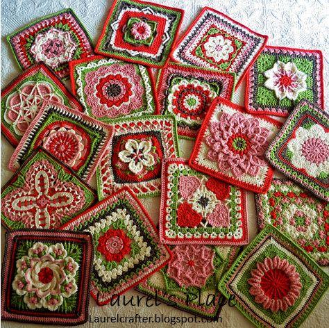 Laurel's /place: April Showers Brought....Lots of Crochet Flowers