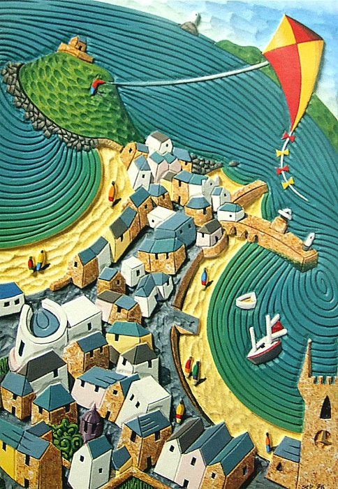 Kite over St. Ives by Seb West